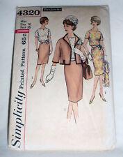 Vintage 1960's Simplicity  Pattern #4320  Misses Slenderette Size 16 Skirt Blous