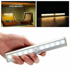 Wireless PIR Motion Sensor 10 LED Battery Powered Light Drawer Cabinet Wardrobe