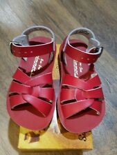 New Sun-San Salt Water Sandals, Swimmer style,red, toddler 9,NWT