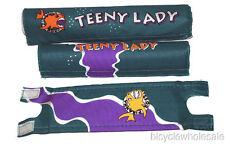 Piranha Teeny Lady 3 Piece BMX Pad Set / Green Frame Pad Set NEW!