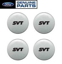 """1994-2004 Mustang SVT Cobra Genuine Ford 2.5"""" Silver Wheel Center Caps Set of 4"""