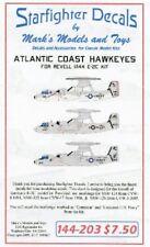 STARFIGHTER DECALS 1/144 Atlantic Coast E2C Hawkeyes for RVL SFA144203