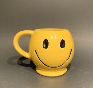 Vintage McCoy Pottery Sunshine Yellow Smiley Face Smile Happy Coffee Mug / Cup