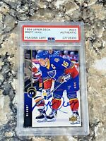 1994 Upper Deck Brett Hull #333 Auto PSA/DNA Slabbed Authentic St Louis Blues