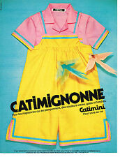 PUBLICITE ADVERTISING 104  1980  CATIMINI  vetements enfants fillettes