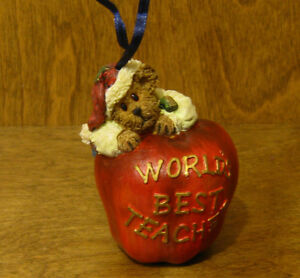 "Boyds Ornament(s) #25760 OWEN APPLEBY ""WORLDS BEST TEACHER"", From Retail Store"