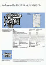 MERCEDES 2635 S 6x4 SZM 354 PS prospetto dati tecnici 1990 AUTO CAMION prospetto