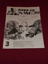 Behind the Mask #3 (1990) Pulp adventure reprint fanzine Fading Shadows Echoes