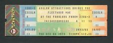 1979 Fleetwood Mac unused concert ticket The Tusk Tour Stevie Nicks McVie 12/06