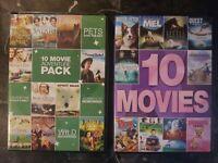 10 Movie Family Collection, Vol. 4 (DVD, 2014, 2-Disc Set) & 10 Movie Adventure