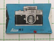LEICA M2 INSTRUCTIONS  + 1958