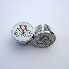 Vintage Style, Battaglin, Chrome Racing Bar Plugs, Caps, Repro