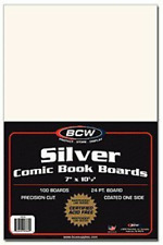 """BCW Comic Book Magazine Backing Boards, 7 x 10 1/2"""" Silver Bag Acid Free New"""