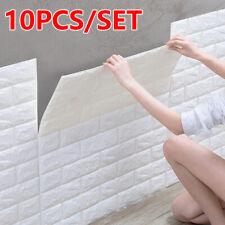 10PCS 3D Wallpaper Large Tile Brick Self-adhesive Waterproof  XPE Foam Panel