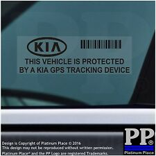 5 x Kia GPS Tracking Device Security BLACK Stickers-Sportage,Car Alarm Tracker