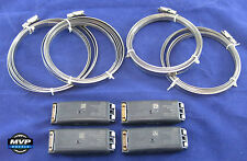 Ford Lincoln Mercury TPMS Tire Pressure Sensors Black Banded Bands- Set of 4