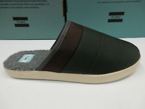 Toms Mens Harbor Slippers Deep Forest 10