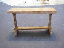 Vintage child's doll house wood furniture-trestle table-Made in USA
