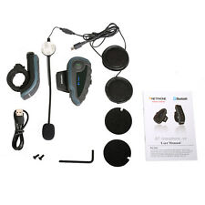 1200M BT Bluetooth Motorcycle Helmet Interphone Intercom Headset V8 5 Riders New