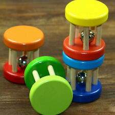 Colorful Wooden Dumbells Bell Roller Rat Rabbit Mouse Play Exercise Toys Pop.UK
