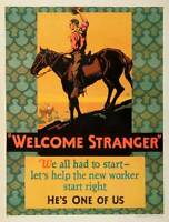 WELCOME STRANGER HE'S ONE OF US ORIGINAL VINTAGE 1927 MATHER WORK INC... Lot 116