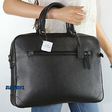 NWT Coach Men's Crosby Leather Business Tote Slim Briefcase Shoulder Bag 71426