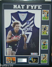NAT FYFE FREMANTLE DOCKERS HAND SIGNED FRAMED OFFICIAL AFL JUMPER BROWNLOW MEDAL