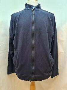 """Bam Bamboo Clothing Navy Zip up Top Size 44"""" Chest"""