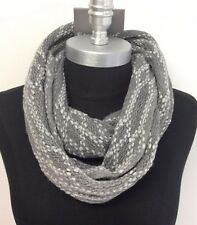 New Women Winter Infinity Circle Knit Cowl Neck Long Scarf Shawl Wrap Color Gray