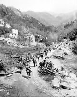 1945 Photo of Men of the 370th Infantry Regiment Moving through Prato Italy