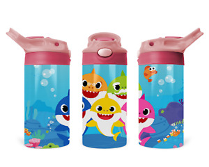 Children Toddler Stainless Steel Sippy Cup Tumbler Baby Shark family