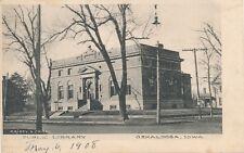 OSKALOOSA IA – Public Library - 1908