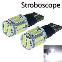 2 ampoules LED Strobo Veilleuses Renault Megane Laguna Clio Scenic Espace Twingo