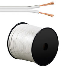 100m Lautsprecherkabel 2 x 0,75 mm² Hifi Audiokabel Boxenkabel 2x0,75mm² weiss