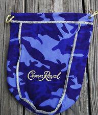 NEW  Crown Royal Camo Camouflage Felt Cloth Drawstring Purple Bag