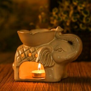 Elephant Oil Burner Wax Melts Ornament Spa Ceramic Tea Light Candle Holder UK