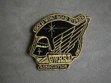 Vintage Gold Wing Road Riders Association GWRRA Jacket Patch Black & Gold Thread