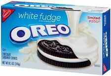Nabisco OREO WHITE FUDGE Covered Chocolate Sandwich Cookies LIMITED EDITION 2018