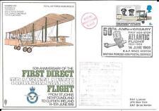 GRAN BRETAGNA 1969 Vickers VIMY 1st coperchio di volo transatlantico diretto SC 9