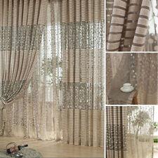 Chic Room Leaf Bedroom Window Curtain Voile Tulle Leaf Sheer Drape Valance #p