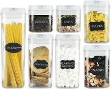 Airtight Food Storage Containers–7 pc Set - Bpa Free Plastic Food Containers