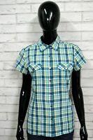 Camicia THE NORTH FACE Blusa Donna M Woman Manica Corta Cotone Quadri Verde