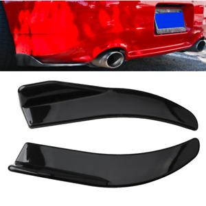 2pcs Black Car Rear Bumper Lip Diffuser Splitter Canard Protector Universal