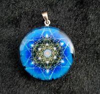Orgone Tesla Pendant Healing Crystal Necklace Orgonite Energy Meditation Tool