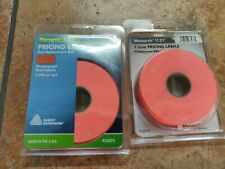 1 LINE FLUORESCENT RED MONARCH PRICING LABELS FOR 1131 (5,000)