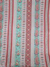 Fabric Vintage Floral Flower Paisley VIP Cranston Print Co. Folk Country Quilt