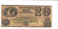 $20 Louisiana Citizens Bank New Orleans unissued $20 18XX   Plate B Green O/P
