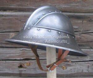 Medieval 14 Gauge Steel Kettle Hat Helmet
