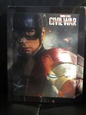 Captain America Civil War 3D/2D Blu-Ray [Czech] Steelbook Lenticular Magnet New