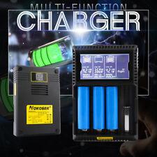 NOKOSER 4 Slot LCD Smart LiFePO4 Ni-MH / Li-ion Battery EU Charger Rechargeable